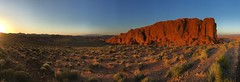 Gibraltar Rock Sunset (tourtrophy) Tags: valleyoffirestatepark valleyoffire sandstone sunset iphone6splus panorama gibraltarrock