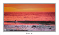 Giddy Up (John_Armytage) Tags: avalon northernbeaches surf supboard littleav sunrise johnarmytage seascape canon5d3 canon70200 surfer surfing beach sand swell