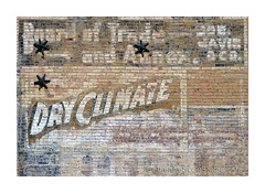 dry climate (Patinagal) Tags: brick sign vintage typography signage peelingpaint relic ghostsign