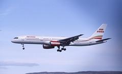 G-OOOH. Air 2000 Boeing 757-23A (Ayronautica) Tags: glasgow aviation scanned airliner gla air2000 b752 egpf boeing75723a goooh ayronautica