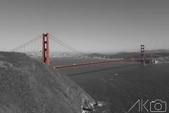 002 (2) (Anish_Krishnan) Tags: ocean bridge sea blackandwhite white black color golden bay gate san francisco desaturation saturation area partial