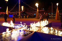 20160618-04-Fire cross at Dark MOFO 2016 (Roger T Wong) Tags: lighting night fire lights cross australia tasmania hobart 2016 pw1 sony1635 princeswharf1 rogertwong darkmofo sel1635z sonya7ii sonyilce7m2 sonyalpha7ii sonyfe1635mmf4zaosscarlzeissvariotessart