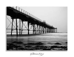 Saltburn Pier (Paul Weller Photography) Tags: longexposure sea bw mist beach pier blackwhite le northsea saltburn
