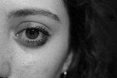 and all this time I sit around and think, but there's nothing to say (fenia_ps) Tags: portrait blackandwhite white selfportrait eye girl monochrome face night self dark hair person sadness back lyrics big eyes tears empty grunge earring mascara