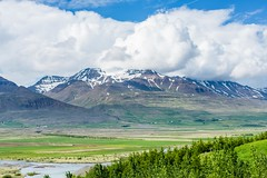 Eyjafjordur Iceland (Einar Schioth) Tags: trees summer sky cloud nature sunshine clouds canon landscape photo iceland day outdoor farm ngc picture grassland sland eyjafjordur nationalgeographic mtkerling einarschioth