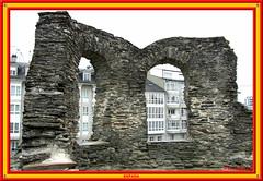 Old & New, City Wall, Lugo (vicbrasil) Tags: barcelona madrid people men children spain women bilbao zaragoza santiagodecompostela montserrat oviedo sansebastian pamplona santillanadelmar