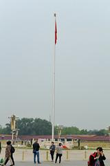 Tiananmen Square flagpole (jkozik) Tags: china beijing forbiddencity tiananmensquare 2016 tiananmensquareflagpole