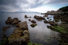 Rocks (fredMin) Tags: travel france beauty alpes rocks long exposure filter nd fujifilm 12mm antibes maritimes samyang xt1