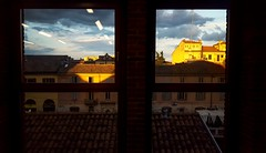 313/365 Different lights (darioseventy) Tags: city houses windows sunset urban lights tramonto tetti case roofs luci finestre