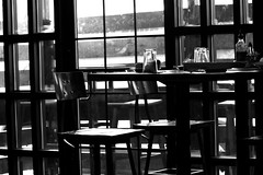 Rendezvous (3912) (echoey13) Tags: light blackandwhite bw window kitchen glass monochrome bar canon chair chairs union highcontrast resturant wilmington stool 8th wilmingtonde canon70d