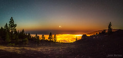 Mar de lava_Vuelta a La Palma (Javier Martnez Morn) Tags: sunset sea night clouds de stars landscape noche la mar venus paisaje canarias nubes jupiter lapalma moran javier palma martinez starry jmartinez76 latituddevida