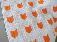 Orange-cat-quilt_000010 (irina_vykhrestiuk) Tags: modern quilt handmade homemade twin kid child patchwork bedding bed quilting memory throw