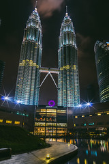 The Towers (likeslimes) Tags: city travel art architecture night buildings asia pentax outdoor south ngc petronas towers east malaysia kuala lumpur twop likeslimes