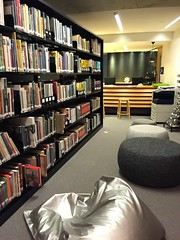 mona space book pillow (idontkaren) Tags: art museum interior library australia mona books research tasmania museumofoldandnewart