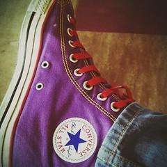 The Right Converse (WatermelonHenry) Tags: basketball purple converse hightops chucks allstars chucktaylor converseallstars orangelaces conversepumps