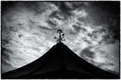 Weather Vane (S.R.Murphy) Tags: june2016 paignton bw blackandwhite monochrome weathervane sonynex6 sigmae30mmf28 niksilverefexpro sky cloud texture minimalist