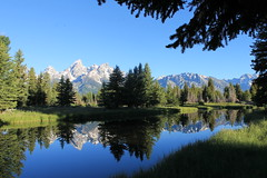Schwarbachers Landing (ZoomSnapNext) Tags: trees lake mountains reflection water wyoming grandtetons