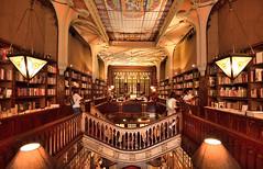 Livraria Lello & Irmo, Porto, Portugal (Alona Azaria) Tags: portugal interior library books porto livros oporto livrarialelloirmo nikond800 1635mmf4