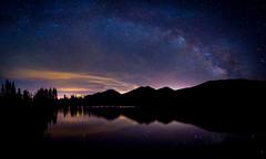 Milky Way Over Sprague Lake, Rocky Mountain National Park, Colorado (Judy Yovin Doherty) Tags: sky reflection night stars nightsky rockymountainnationalpark conditions milkyway spraguelake
