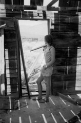 Garlock, CA (Mason Shefa) Tags: california white black abandoned film pose town model desert pentax kodak tmax mason ghost southern sp 400 spotmatic agfa rodinal stark honeywell dilapidated garlock iia shefa rondinax