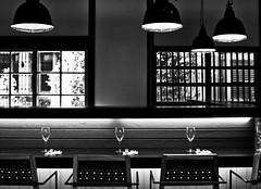 Prepare (OrangeK7) Tags: light blackandwhite bw bar restaurant interior indoor