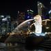 The famous Singapore Merlion