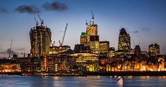 City @ Dusk (Suggsy69) Tags: sunset london thames lights nikon dusk towers d5200