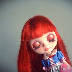 Red Girl#blythecustom#dolls#blythe#customblythe#handmade#