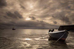 Low Tide_ 7585 (Explored) (FoxyPhoto2012) Tags: sea seascape beach sunrise foxy boat fisherman northumberland shore northsea lobster holyisland fatman foxyphoto foxyphoto2012 fatmanphotographer