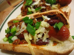 Chili Con Carne Dog w/cheese and green onions (236ism) Tags: dog green chili onions carne con wcheese
