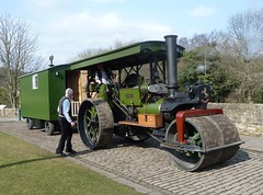 "Aveling & Porter Road Roller 11145 ""Ayesha"" (Terry Pinnegar Photography) Tags: museum traction engine steam beamish cobbles ayesha countydurham roadroller avelingporter livingvan 11145 tn216"