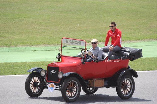 Jules Bianchi in the Drivers' Parade at the 2013 Spanish Grand Prix