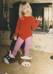 bevo slippers (foxesandfigs) Tags: hello family film kid wave tights kelly hi longhorn waving slippers bevo