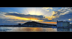 Sun rays in the sunset (Damir B.) Tags: sunset sea sun clouds golden croatia split sunrays marjan hrvatska dalmatia dalmacija zalazak kapetanija mygearandme mygearandmepremium mygearandmebronze mygearandmesilver mygearandmegold