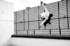 Falling with Style (Nic Stewart) Tags: urban photography flying clothing uniform dress sheffield floating falling gravity stewart freerunning uniforms nic parkour impossible defying
