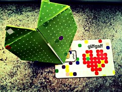 Giff Gaff Love - Monday 13th May 2013 (AMIAFAD) Tags: uk green love mobile origami phone heart may card 365 monday sim 13th gaff giff 2013 giffgaff flickrandroidapp:filter=none