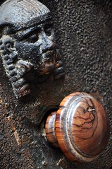 Olive Wood Door Knob in Volterra (Crumblin Down) Tags: plaza rome green tower classic church stone town ancient ruins theater arch theatre roman basilica seat hill volterra entrance medieval cobble cobblestone column piazza seating vampires etruscan hilltown tuscana volturi