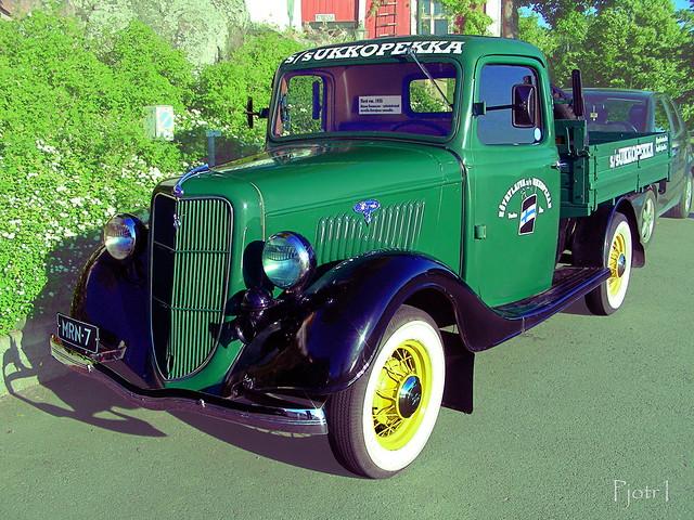 finland pickuptrucks naantali 1935 fordv8 worldcars