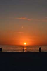 15744 (jordankatherine) Tags: ocean blue sunset sky orange cloud sun color beach water couple