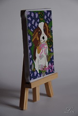 """Madame Alexander """"Painting my puppy"""" (Lin109) Tags: madame painting puppy toy doll 8 collection alexander wendy"""