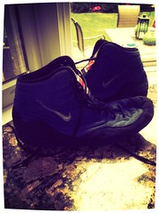 Blue ogs size 10 (Pin2win1234) Tags: blue red black shoes 10 wrestling 14 7 8 9 11 size sample 12 105 custom 13 rare ogs inflicts iguanafilter
