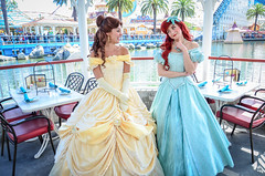 Belle and Ariel (EverythingDisney) Tags: ariel princess disneyland disney belle dca dlr princesses beautyandthebeast californiaadventure disneycaliforniaadventure thelittlemermaid arielsgrotto princessariel princessbelle