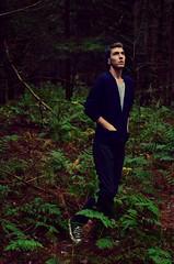 Self (Chase.JW) Tags: trees boy portrait man fern guy nature forest self woods converse ferns selfie