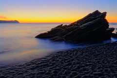 The Rock (charlesbrooksphotographer) Tags: chile sunset beach rock fusion niebla hdr