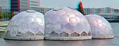 Rijnhaven Paviljoen 3D (wim hoppenbrouwers) Tags: 3d rotterdam anaglyph stereo domes kopvanzuid paviljoen dwa redcyan rijnhaven koepels floatingpavilion drijvendpaviljoen