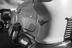 Bow Tie and Fins (AndreasGarcia) Tags: original blackandwhite chevrolet belair car digital canon photography classiccar vintagecar bowtie chevy canon5d fins carporn ef28135f3556isusm originalphotography canon5dmkii