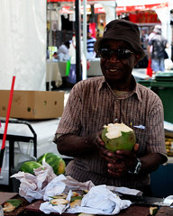 city urban food toronto ontario canada sunshine sunglasses happy coconut culture carribean sunny event jamaica tropical caribana eyewear cocunutwater