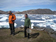 Greenland (VERUSHKA4) Tags: life travel blue light summer portrait people white mountain men ice nature water canon denmark island coast photo europe day image july lagoon explore musical shore shade greenland danish instrument iceberg incredible shaman biggest cultural