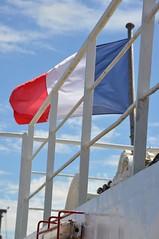 blue, white, red (kay ef) Tags: france rouge vent flag windy bleu bateau blanc drapeau