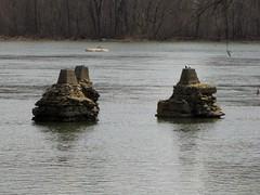 Abandoned bridge piers (SchuminWeb) Tags: bridge abandoned water river james virginia march pier ben district piers web bridges richmond va belle isle abandonment rva 2013 schumin schuminweb